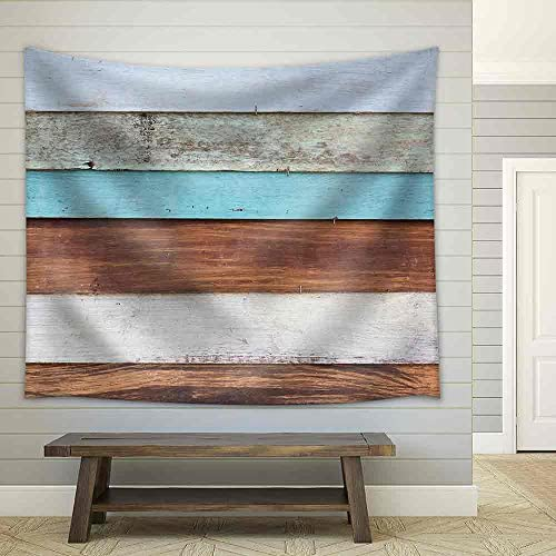 Old Painted Wood Panel Background Fabric Wall
