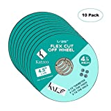 Flex Cut Off Wheels- For Cutting Metal And Steel -4 ½ Inch To Use With Angle Grinders - 4.5