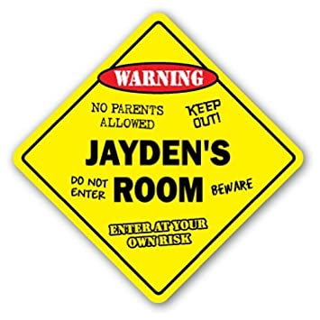 Decorative Signs With Sayings Jayden's Room Sign Kids Bedroom Decor Inspiration Keep Out Signs For Bedroom Doors Decor Decoration