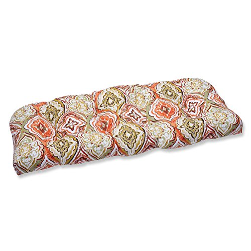 Pillow Perfect Outdoor Montrese Desert Wicker Loveseat Cushion, Multicolored