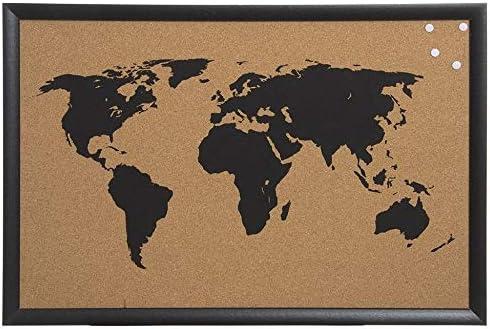 Decowood - Mapa Mundi de Corcho con Marco para Marcar Tus Viajes ...