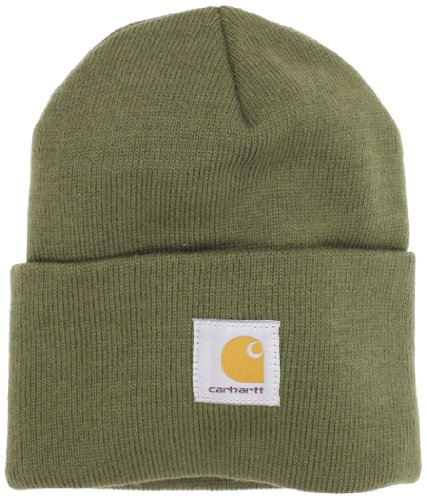 1 Fit New Hat Cap - Carhartt Men's Acrylic Watch Hat A18, Army Green, One Size