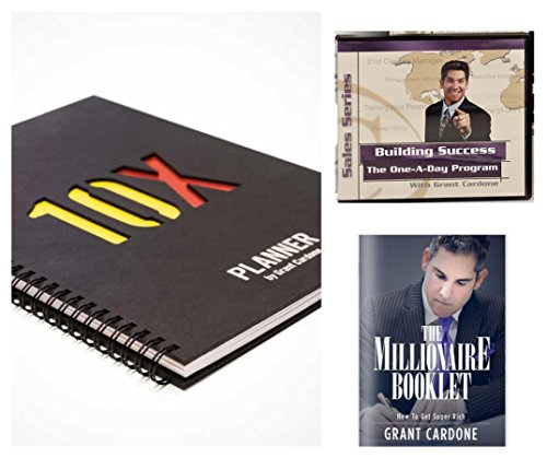 Grant Cardone 10X Planner Bundle with Building Success The Automotive One-A-Day Sales Series Audio Program & The Millionaire Booklet by 10X Planner