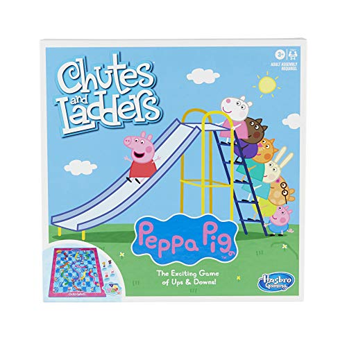 Hasbro Gaming Chutes and Ladders: Peppa Pig Edition Board Game for Kids Ages 3 and Up, for 2-4 Players