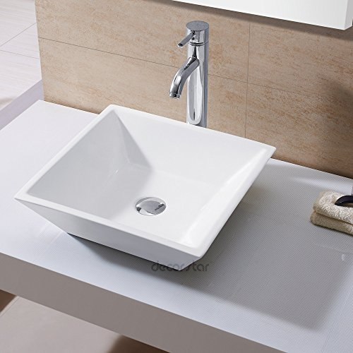 Top Mount Bathroom Sink - Decor Star CB-006 Bathroom Porcelain Ceramic Vessel Vanity Sink Art Basin
