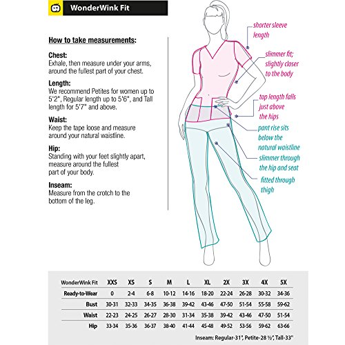 Four-Stretch Women's Color Block V-neck Top & Straight Leg Cargo Pant Scrub Set+ FREE GIFT [XS - 3XL] by WonderWink (Image #2)