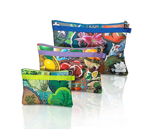 Travel Pouches set of 3 by Nabila K
