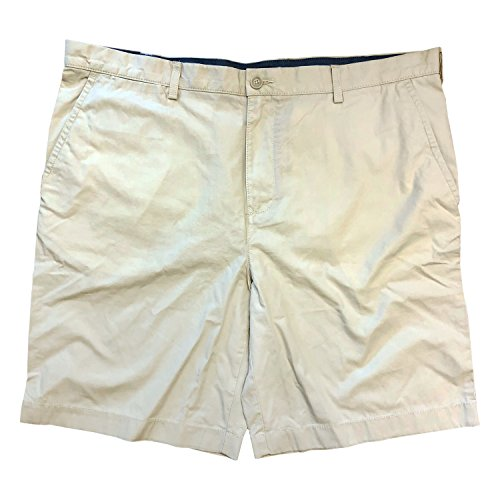 Tommy Hilfiger Men's Core Classic Fit Flat Front Shorts (Sand Khaki, 32)