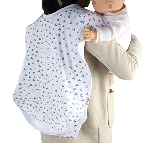 Baby Burp Cloth Double Shoulder Burp Bib, Organic Cotton Large 35