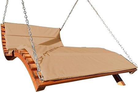 Design Hängeliege Doppelliege Hollywoodliege Holz MACAO-LOUNGER ohne Gestell