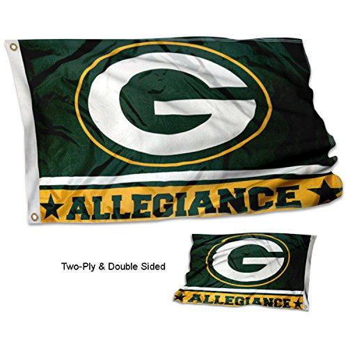 Wincraft Green - WinCraft Green Bay Packers Double Sided Allegiance Flag