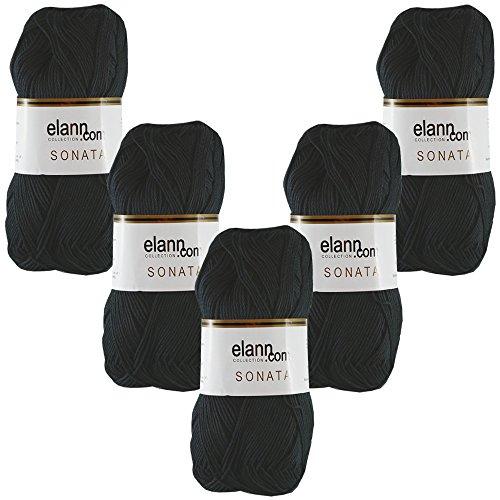 - elann Sonata Yarn | 5 Ball Bag | 8990 Black