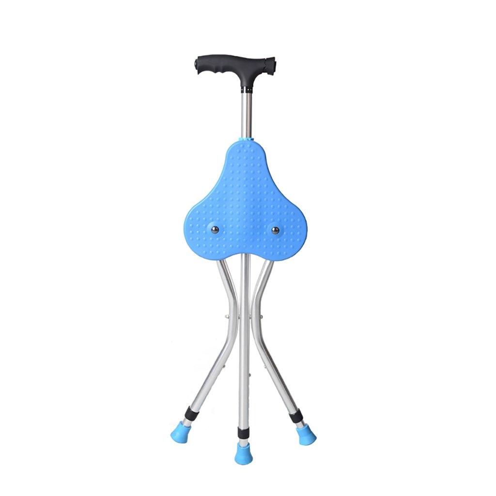 NUBAO Caduceus折りたたみ三角椅子/スツール松葉杖5伸ばした光磁気療法マッサージグリップ青長さ87.5-97.5cm(34.45-38.39インチ) (色 : A, サイズ さいず : One) B07CQNNTHJ One|A A One