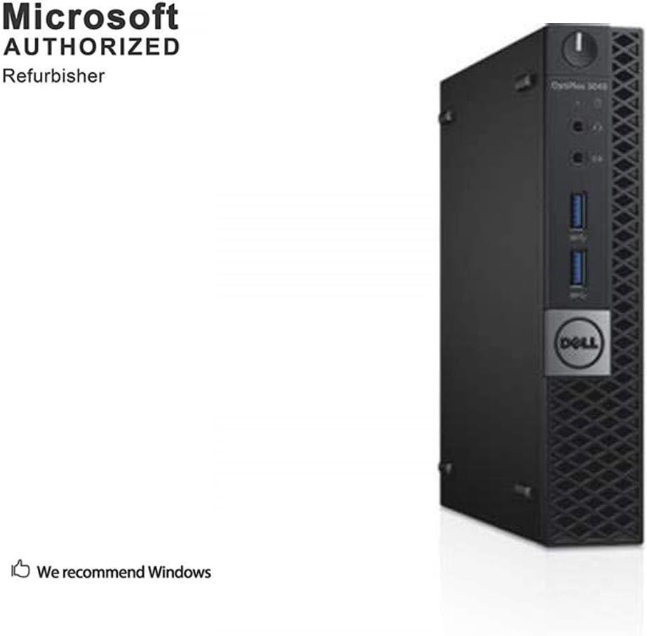 Dell OptiPlex 3040 Micro Business Desktop PC, Intel Core i3 6100T 3.2 GHz, 8 GB DDR3L, 256 GB SSD, WiFi, BT, DP, HDMI, Windows 10 64 Bit-Multi-Language Supports English/Spanish/French(Renewed)
