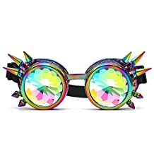 OMG_Shop Retro Vintage Victorian Steampunk Kaleidoscope Goggles Glasses Welding Cyber Punk Gothic Eye Protection Equipment For Cosplay Dance