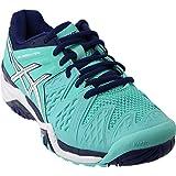 ASICS Women's Gel-Resolution 6 Tennis Shoe, Pool Blue/White/Indigo Blue, 6.5 M US