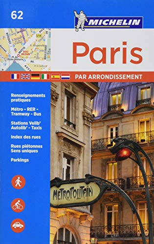 Michelin Paris by Arrondissements Pocket Atlas #62 (Michelin Map & Guide Series) (Maps Paris)