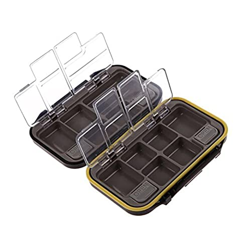 Smartcoco Storage Case 12 Compartments Fly Fishing Lure Spoon Hook Bait Tackle Box Waterproof Black - 12 Compartment Fly Box