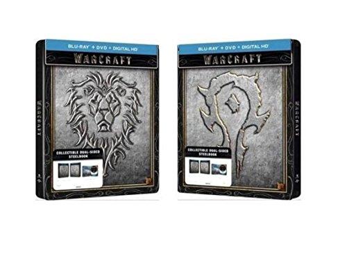 Warcraft Limited Edition Dual Sided Steelbook  Blu Ray   Dvd   Digital Hd