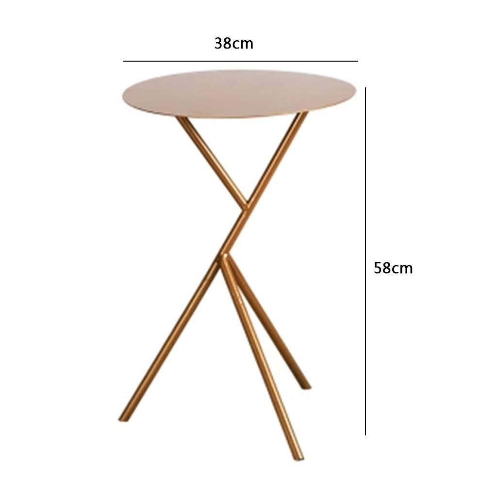Color : Gold, Size : 38 * 38 * 58cm Jardin Tables basses en ...