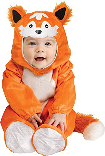 Fox Furry Costume Toddler (UHC Baby Boy's Li'l Raccoon Fox Animal Theme Party Infant Halloween Costume,)