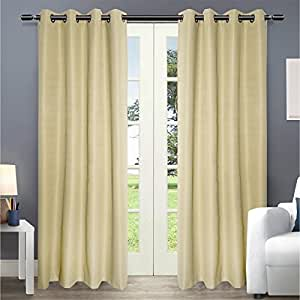 Jinchan thermal coating blackout grommet top window curtain for bedroom drape for - Amazon curtains living room ...