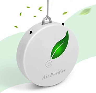 Portable Wearable Air Purifier Rechargeable Neck Hanging Negative Ion Purifier T