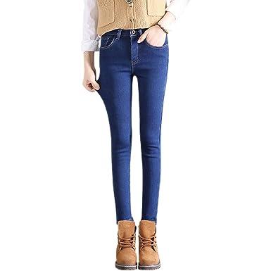 KINDOYO Jeans Ajustados para Mujer - Moda Estilo Casual ...