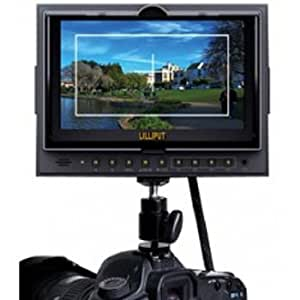 """Lilliput 5d-ii/o/p Peaking Zebra Exposure Filter Hdmi in OUT 7"""" TFT LCD Monitor+hot Shoe Mount+mini Hdmi Cable By Viviteq (No Battery Included)"""