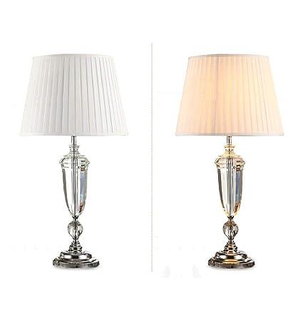 HAIYUGUAGAO Lámpara de mesa de cristal de lujo Simple ...