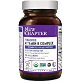 New Chapter Vitamin B Complex, Fermented Vitamin B Complex, ONE Daily with Whole-Food Herbs + Adaptogenic Maca for Natural Energy + Beauty, 100% Vegan, Gluten-Free - 60 Count