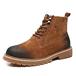 edv0d2v266 2018 New Men's Military Tactical Boots Waterproof Hiking Combat Boots Army Comp Toe Work Boots(Brown Plus Velvet 44/10 D(M) US Men)
