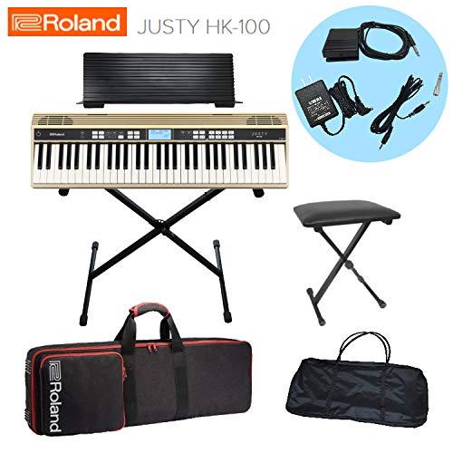 ローランド キーボード JUSTY HK-100/Roland 【X型スタンド/キーボード椅子/本体&スタンドケース付き】   B07JD8W2QZ