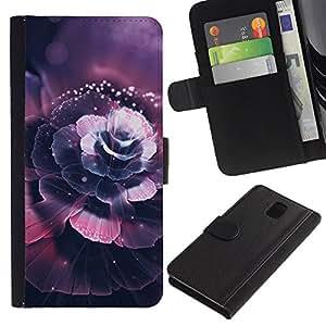 NEECELL GIFT forCITY // Billetera de cuero Caso Cubierta de protección Carcasa / Leather Wallet Case for Samsung Galaxy Note 3 III // Hermosa flor de cerezo