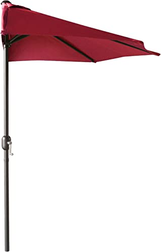 ABCCANOPY 11FT Patio Umbrella Half Round Outdoor Umbrella