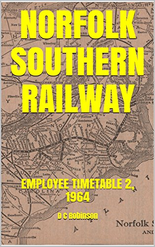 NORFOLK SOUTHERN RAILWAY: EMPLOYEE TIMETABLE 2, 1964