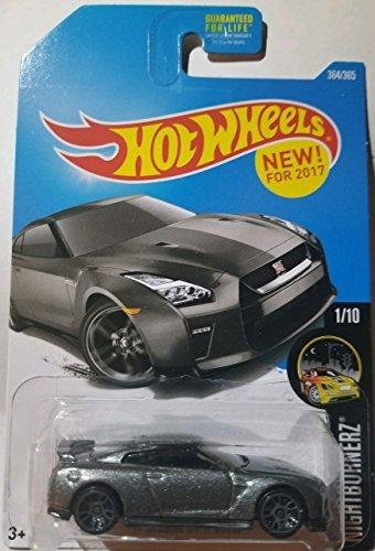 Gtr Wheel - Hot Wheels 2017 Nightburnerz '17 Nissan GT-R (R35) 364/365, Gray
