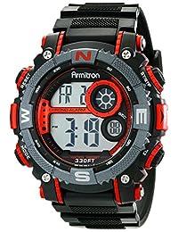 Armitron 40-8284R Reloj Digital para Hombre, color Rojo/Negro