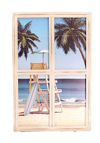 Beach DŽcor Coastal Wall Art Palms Window Framed Sign Home DŽcor