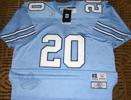 Russell Athletic AUTHENTIC #20 Natrone Means UNC Tar Heels Blue Throwback Jersey - Size -
