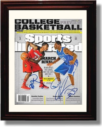 Framed John Randle and Russ Smith Sports Illustrated Autograph Replica Print - Louisville vs Kentucky Pre-Season