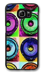 Audio Comic1 Polycarbonate Hard Case Cover for Samsung S6/Samsung Galaxy S6 Black