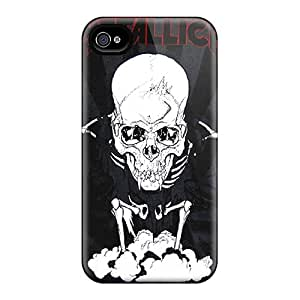 Shock Absorbent Hard Phone Covers For Iphone 6 With Unique Design Beautiful Metallica Pattern KennethKaczmarek