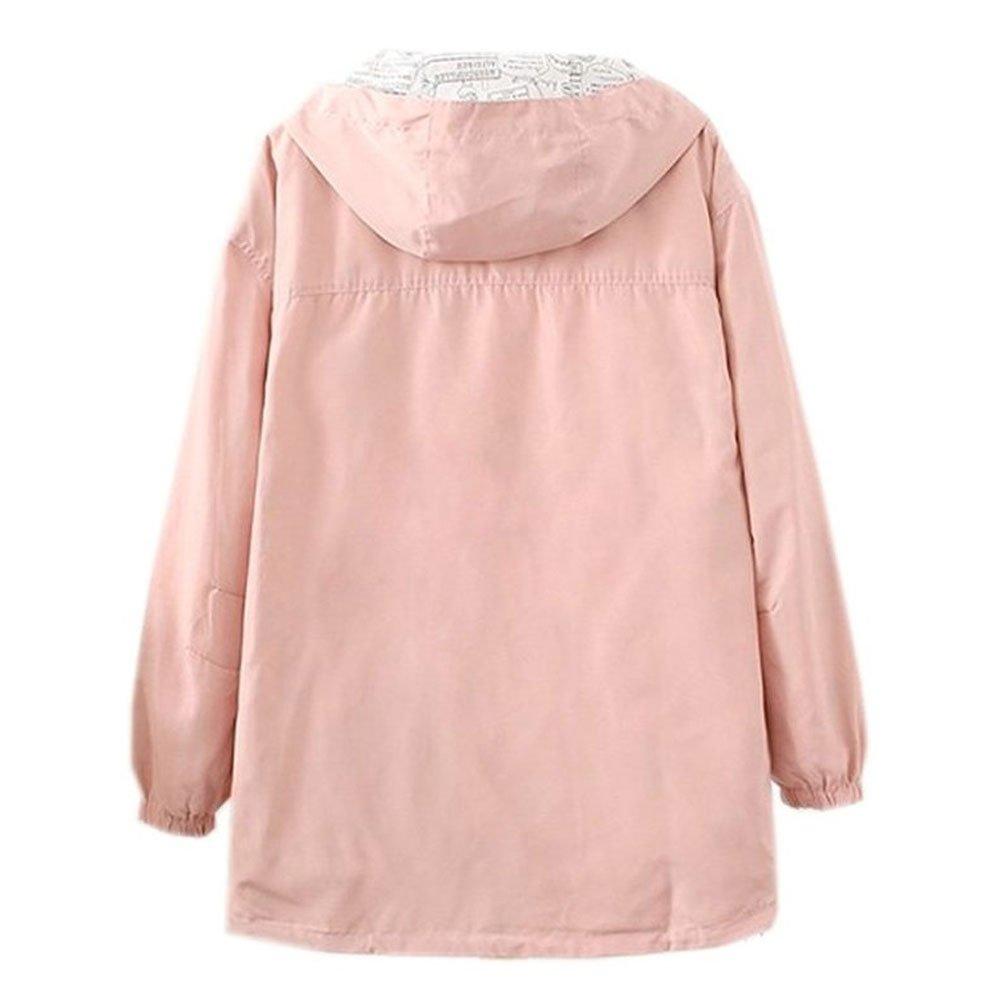 2017 Harajuku Pastel Peach Pink Bomber Jacket Hoodies Two Side