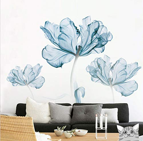 DERUN TRADING Wall Stickers & Murals Home Décor Home Décor Accents for Living Room Flower Wall Decals Home Improvement Paint Wall Treatments Wall Decals Murals Decor Vinyl Removable Mural Paper … by DERUN TRADING (Image #1)
