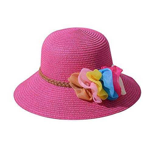 58aa9187 Image Unavailable. Image not available for. Color: Demana Summer Fashion  Straw Hats/Fisherman Hat Women Foldable Flower ...