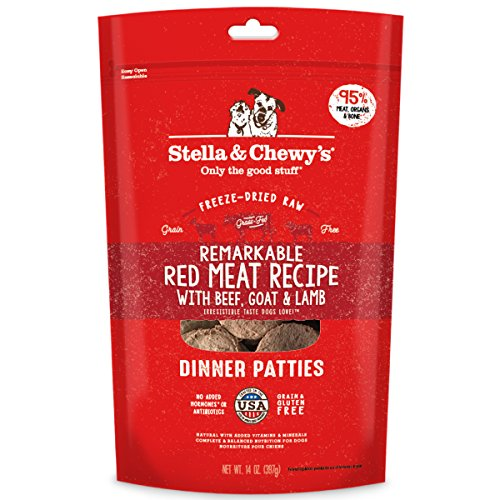 Stella & Chewy's Freeze-Dried Raw Remarkable Red Meat Recipe Dinner Patties, 14 oz. bag