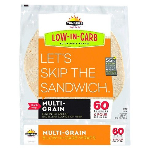 (Tumaro's Low Carb Multi Grain Tortillas KSA Kosher Pareve Pack of 2)