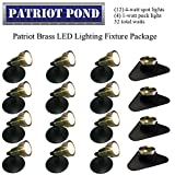 Patriot Brass LED Waterproof Pond and Landscape Lighting Fixture ONLY Kit PF-G4