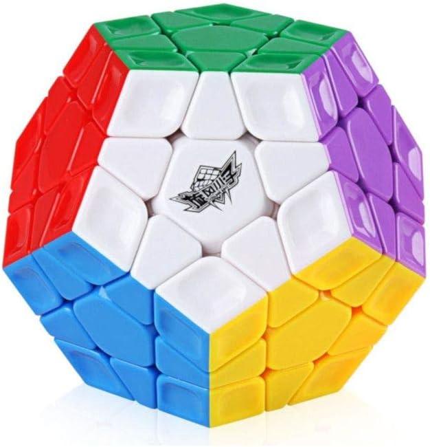 Ludokubo Dod/éca/èdre speedcube Cyclone Boys Rainbow Megaminx 3x3 sans Autocollant